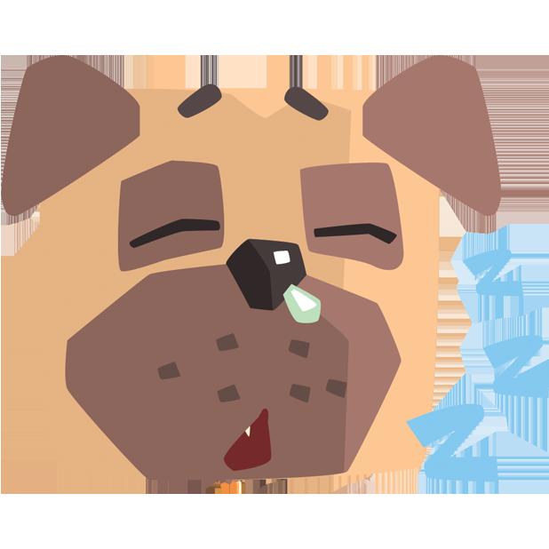 Pug Emoji And Stickers messages sticker-8