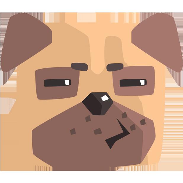 Pug Emoji And Stickers messages sticker-2