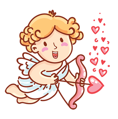 Cupid in love messages sticker-0