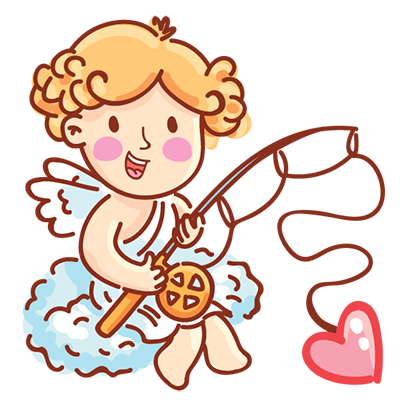 Cupid in love messages sticker-7