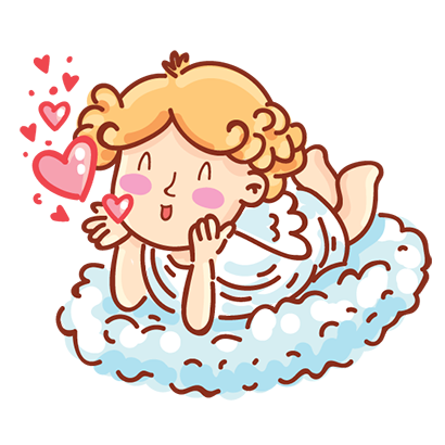 Cupid in love messages sticker-6