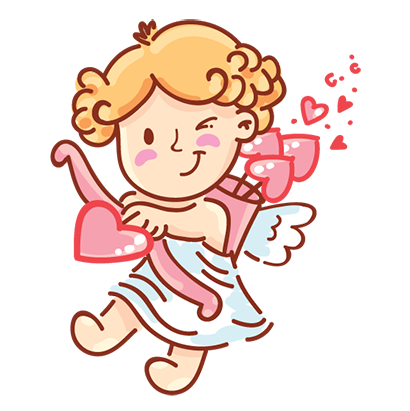 Cupid in love messages sticker-10