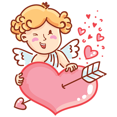 Cupid in love messages sticker-11