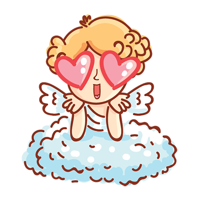 Cupid in love messages sticker-8