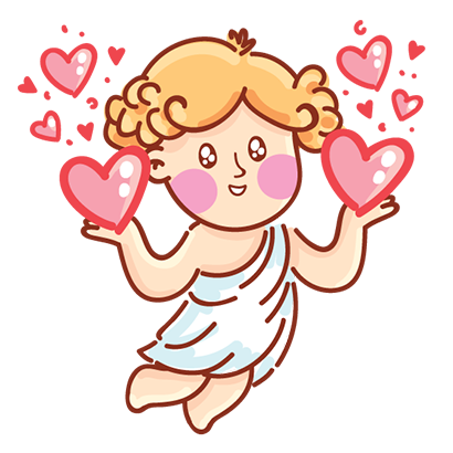 Cupid in love messages sticker-9