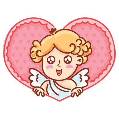 Cupid in love messages sticker-1
