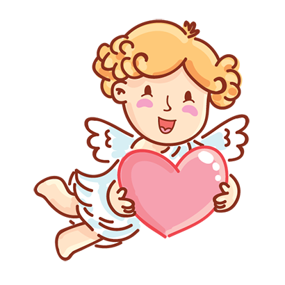 Cupid in love messages sticker-5