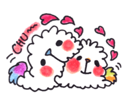 Lovely Pair Of Dogs Stickers messages sticker-7
