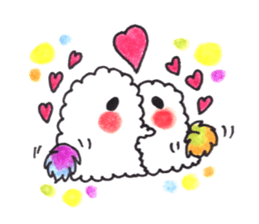 Lovely Pair Of Dogs Stickers messages sticker-1