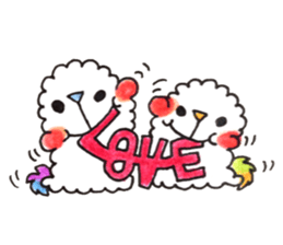Lovely Pair Of Dogs Stickers messages sticker-5