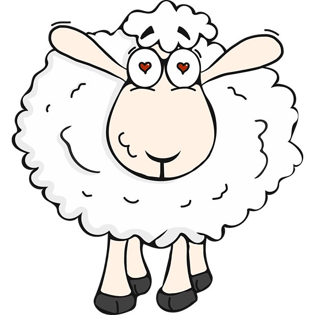 Morris the Sheep Valentine's Day messages sticker-1