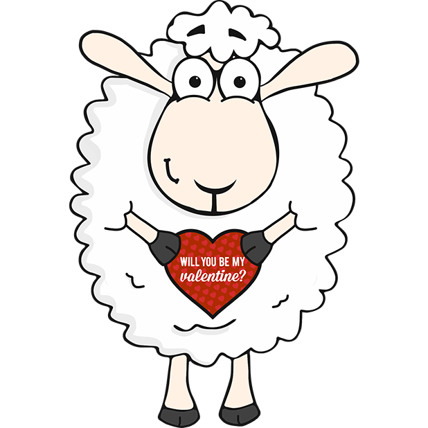 Morris the Sheep Valentine's Day messages sticker-2