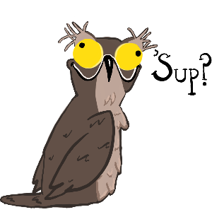 Potoo Bird Sticker Pack messages sticker-0