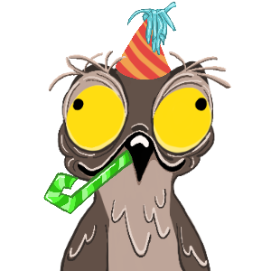 Potoo Bird Sticker Pack messages sticker-10