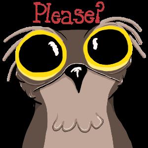 Potoo Bird Sticker Pack messages sticker-4