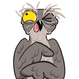 Potoo Bird Sticker Pack messages sticker-7