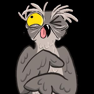 Potoo Bird Sticker Pack messages sticker-9