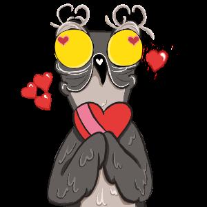 Potoo Bird Sticker Pack messages sticker-5