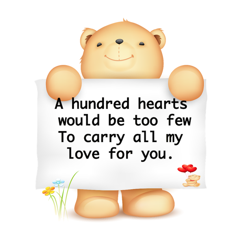 Valentine Bear Stickers messages sticker-7
