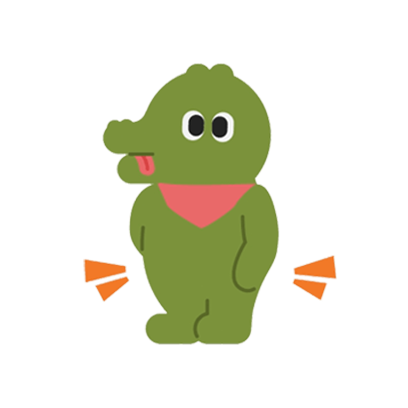 Crocodile Loves Plover messages sticker-8