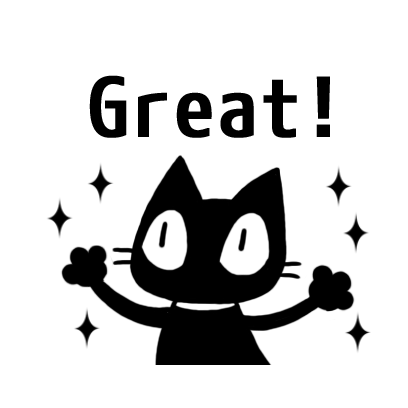 kuro nyanko messages sticker-11