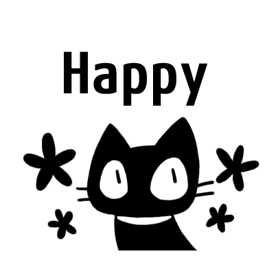 kuro nyanko messages sticker-3