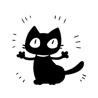 kuro nyanko messages sticker-7