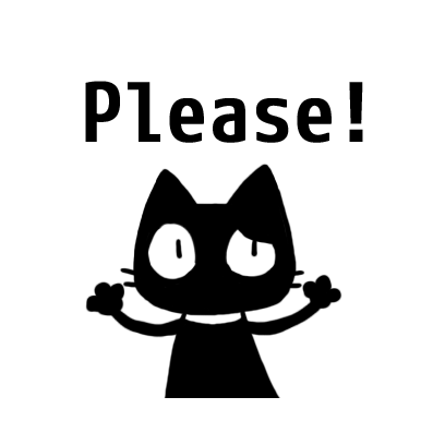 kuro nyanko messages sticker-10