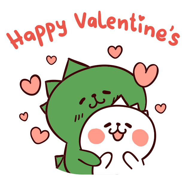 Dino Love stickers messages sticker-1