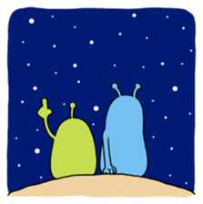 Funny Aliens Stickers messages sticker-11