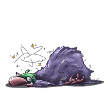 Funny Monster Stickers messages sticker-7