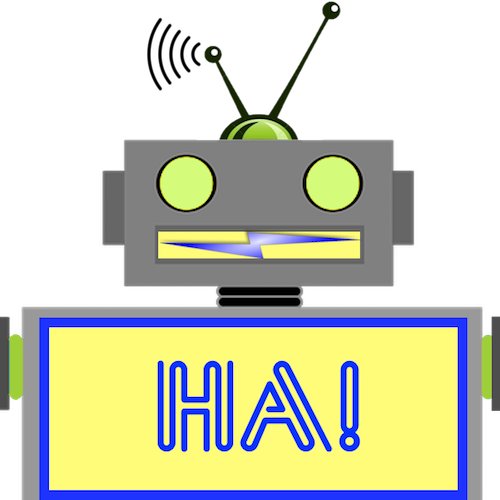 LaughBot: Animated Robot Stickers messages sticker-8