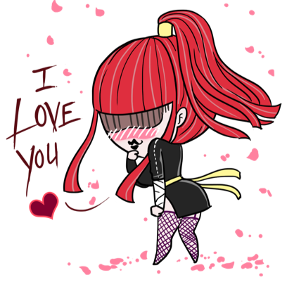 Aiko the Love Ninja stickers messages sticker-10