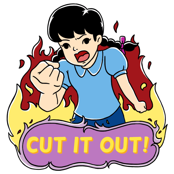 Crazy Sibling messages sticker-8