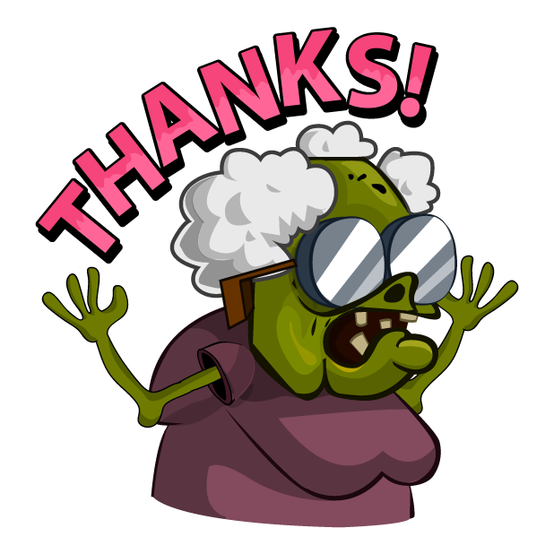 Zombie Smash! Time Travel messages sticker-5