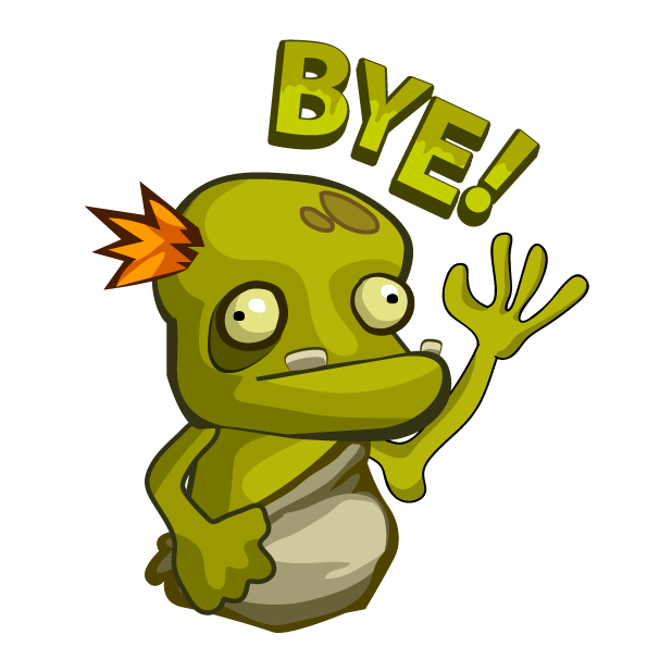 Zombie Smash! Time Travel messages sticker-0