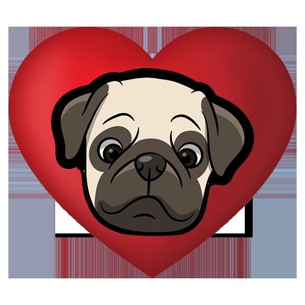 PugMoji - Pug Emoji & Sticker messages sticker-5