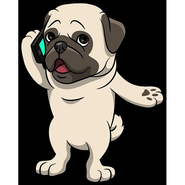 PugMoji - Pug Emoji & Sticker messages sticker-8
