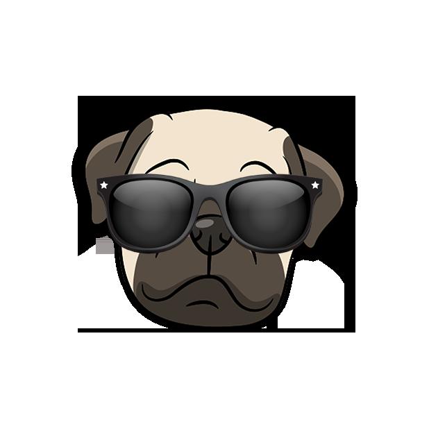 PugMoji - Pug Emoji & Sticker messages sticker-2