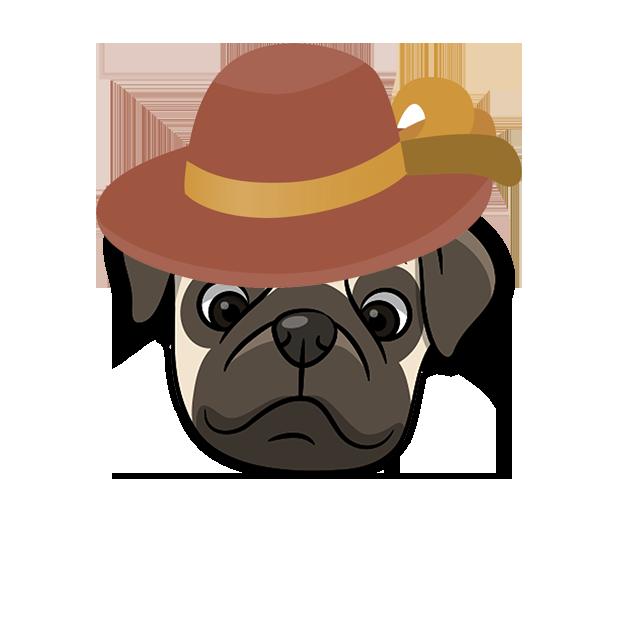 PugMoji - Pug Emoji & Sticker messages sticker-4