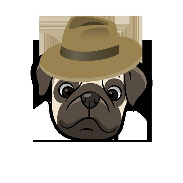 PugMoji - Pug Emoji & Sticker messages sticker-3