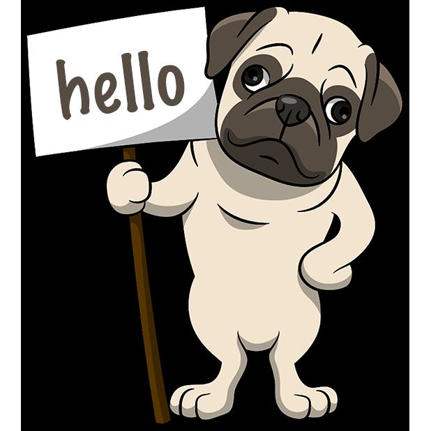 PugMoji - Pug Emoji & Sticker messages sticker-6
