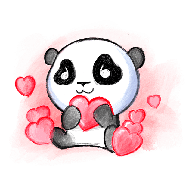 Be My Panda Valentine - Hand drawn love stickers messages sticker-2