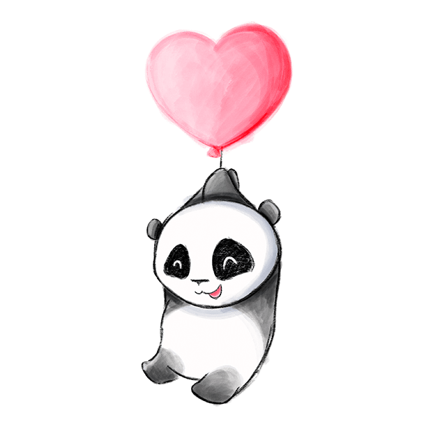 Be My Panda Valentine - Hand drawn love stickers messages sticker-7
