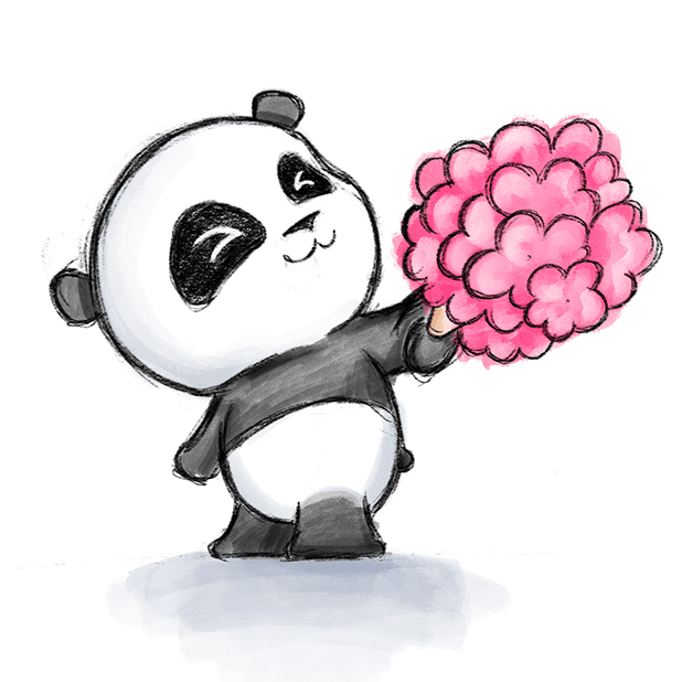 Be My Panda Valentine - Hand drawn love stickers messages sticker-1