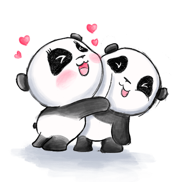 Be My Panda Valentine - Hand drawn love stickers messages sticker-4