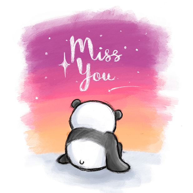 Be My Panda Valentine - Hand drawn love stickers messages sticker-5
