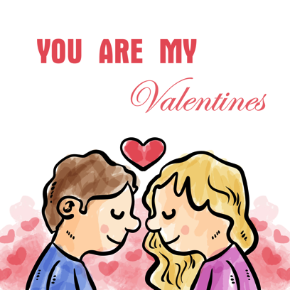 Be my Valentine - stickers messages sticker-0