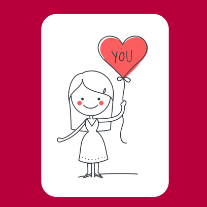Be my Valentine - stickers messages sticker-4