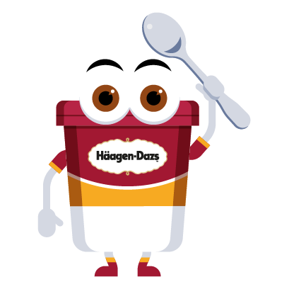 Häagen-Dazs-Emojis messages sticker-4